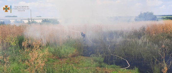 За добу, що минула, вогнеборці ліквідували п'ять займань на відкритій території