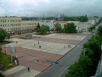"""Вид на площадь с высоты ТЦ """"Зеркальный"""""""
