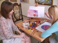 В галерее учат рисовать