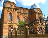Вид на синагогу - с дороги