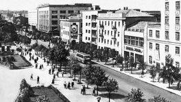 Улица Большая Перспективная - вид со здания на улице Тимирязева