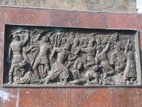 Барельєф на пам'ятнику Богдану Хмельницькому у Кіровограді
